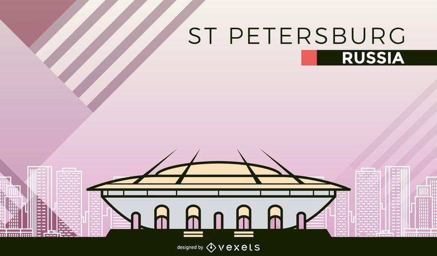St Petersburg football stadium cartoon