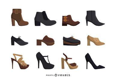 Frauen High Heels Schuhe eingestellt