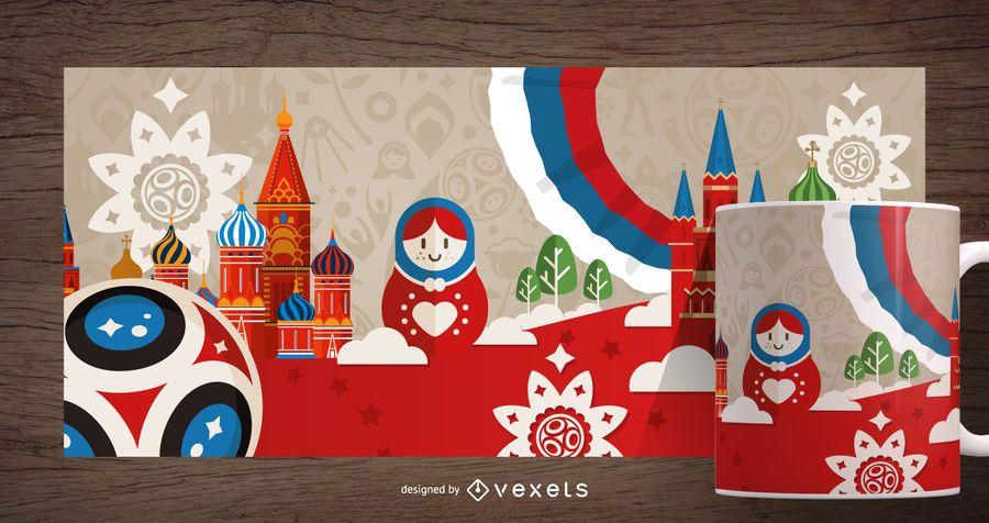 Russia mug print design