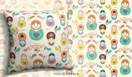 Russian matryoshka doll pattern