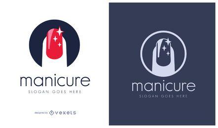 Logotipo de cosméticos de manicura