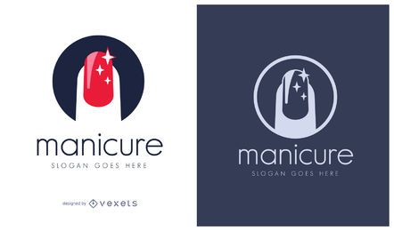 Logotipo de cosméticos de manicure