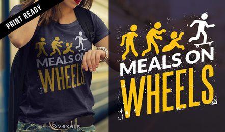 Zombie comidas camiseta de diseño