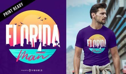 Projeto do t-shirt do homem de Florida