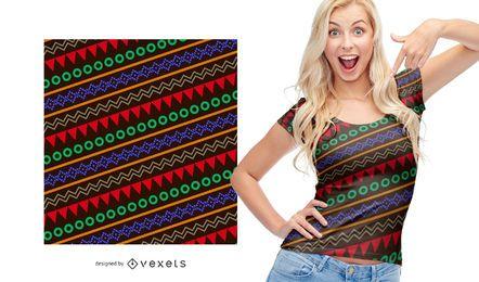 Colorido patrón indio étnico