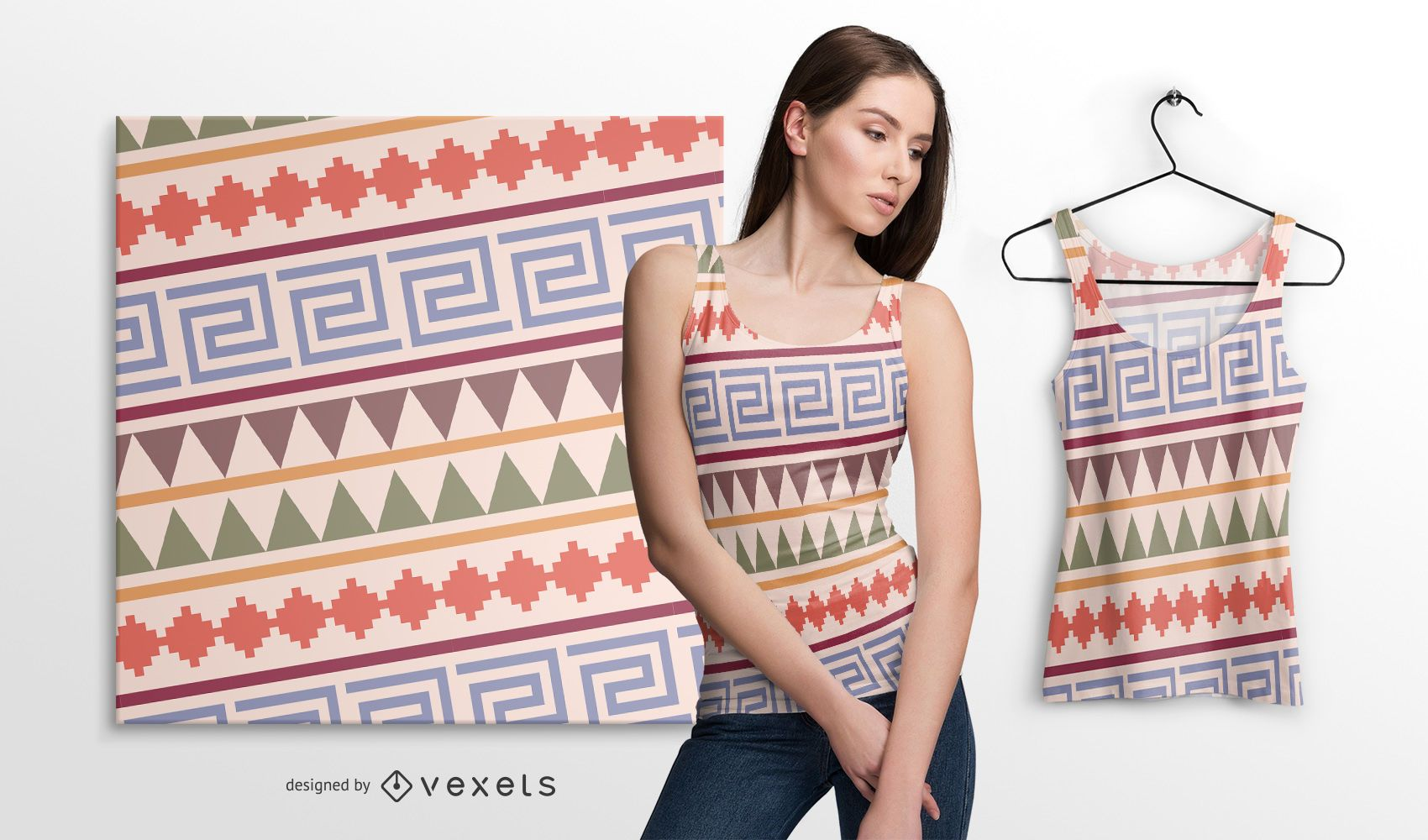 Colorful native american pattern