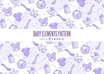 Padrão de elementos do bebê