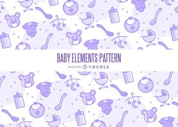 Patrón de elementos de bebé