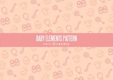 Stroke baby elements pattern