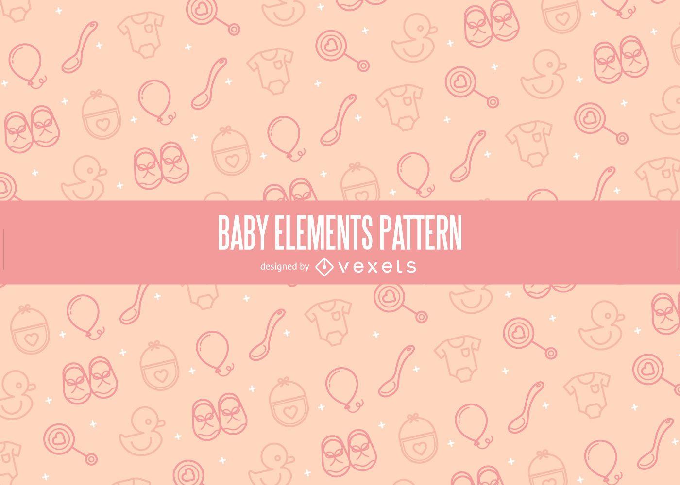 Stroke baby elements pattern