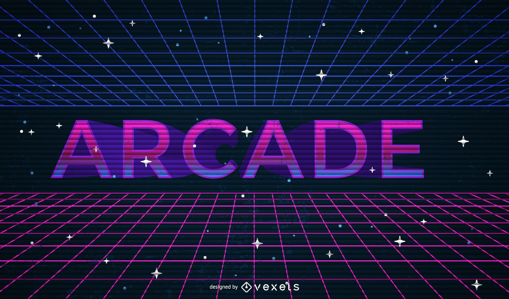 Geometrical arcade illustration