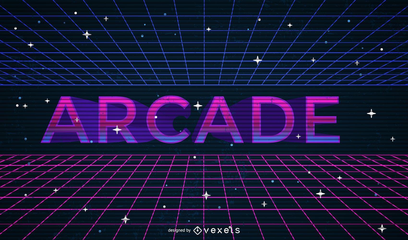 Ilustración de arcade geométrica