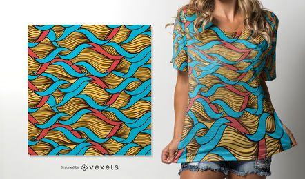 Afrikanisches Muster mit gezwirnten Fäden