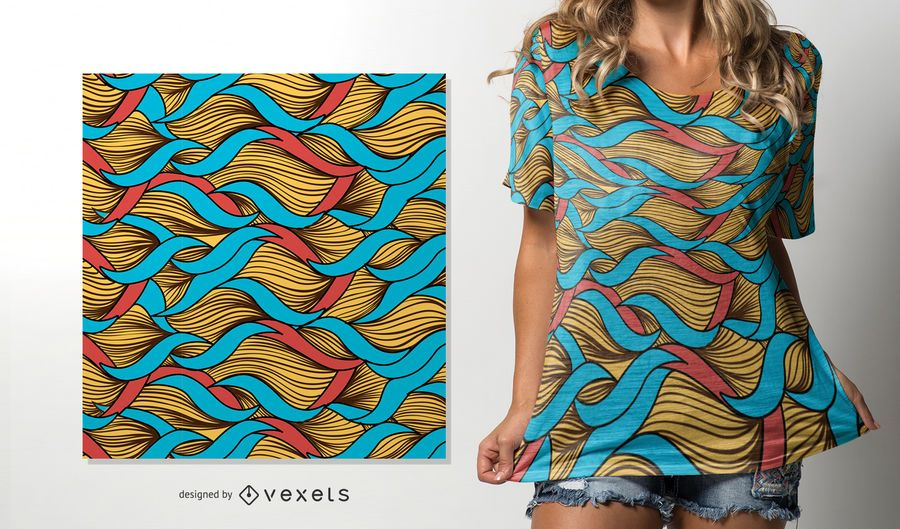 Twined Fäden afrikanisches Muster