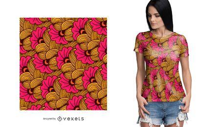 Patrón africano colorido floral