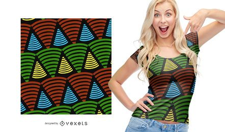 Colorful triangle shape African pattern