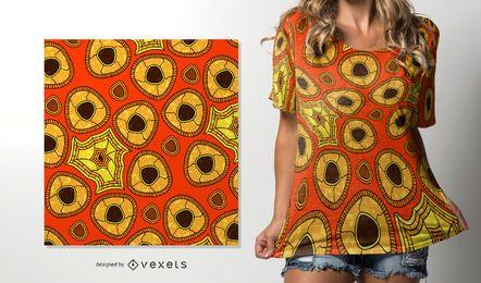 Patrón africano de colores cálidos