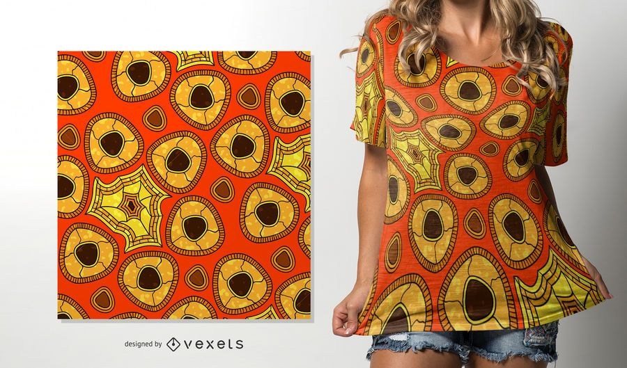 Warm colors African pattern