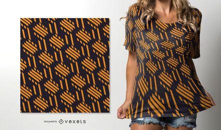 Gelbe Linien nahtloses afrikanisches Muster