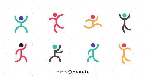 Conjunto de modelo de logotipo de esporte