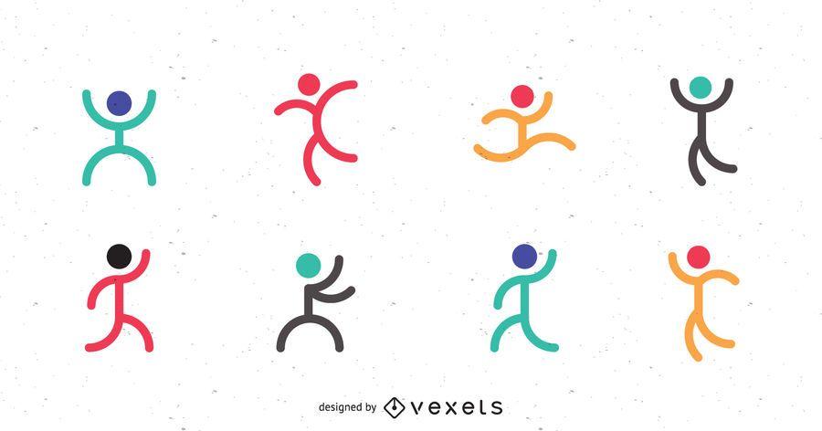 Conjunto de plantillas de logotipo deportivo