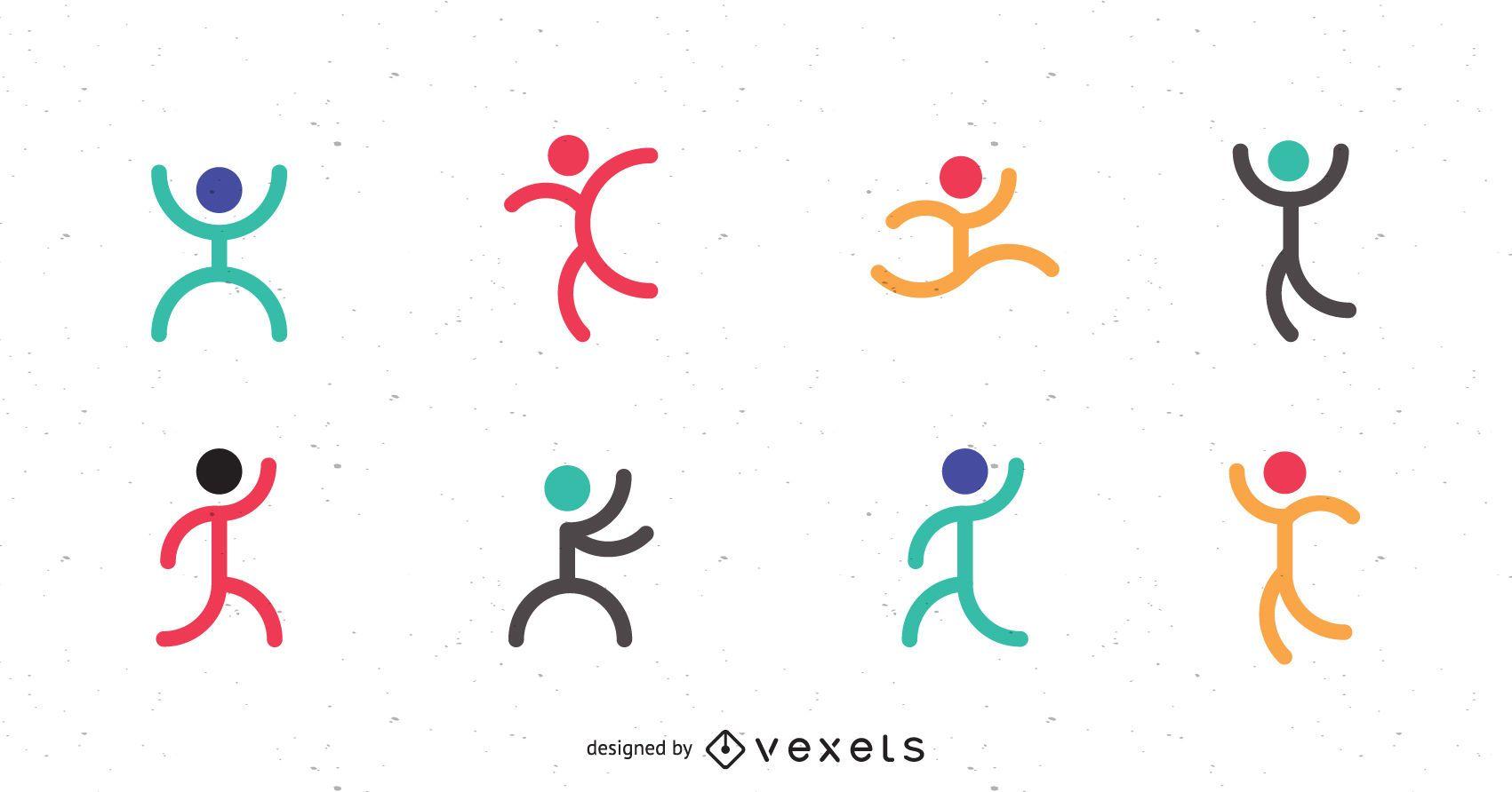 Sport logo template set