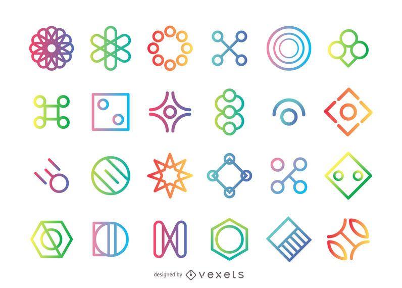 Geometrische Form Logo gesetzt