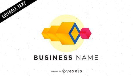 Logotipo de negócios de cubos