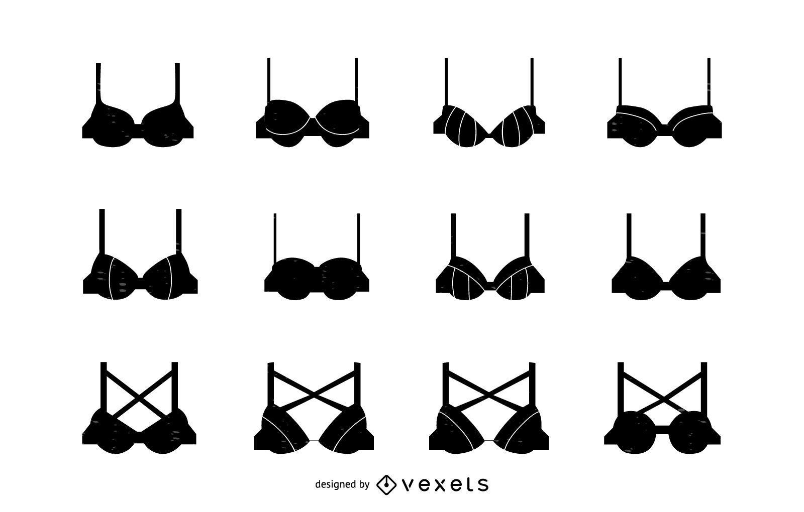 Women bra silhouette set