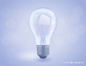Realistic light bulb illustration