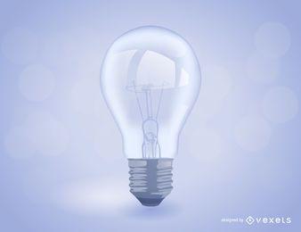 Realistische Glühlampe Abbildung
