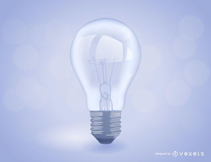 Ilustração realista de lâmpada
