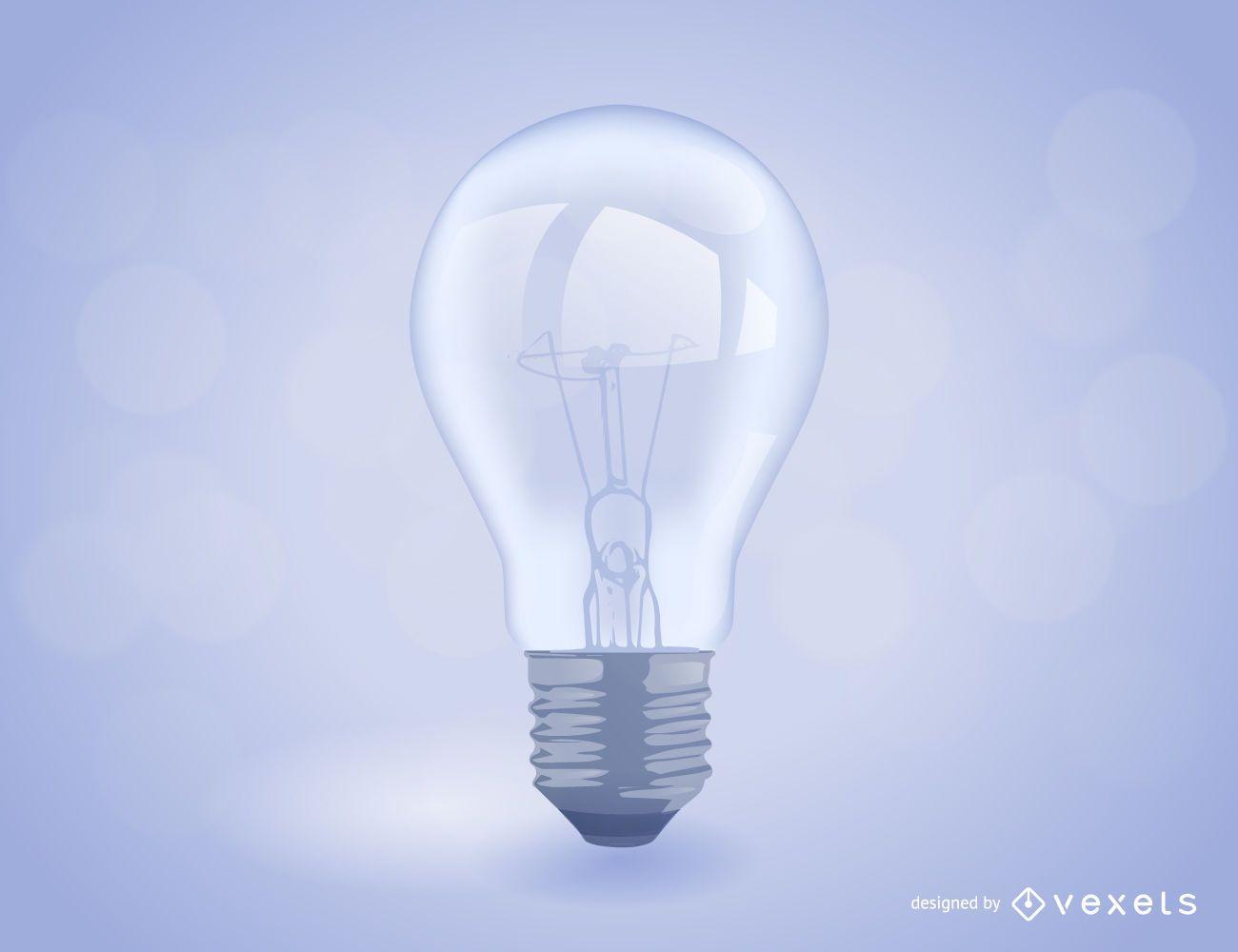 Realistic light bulb illustration