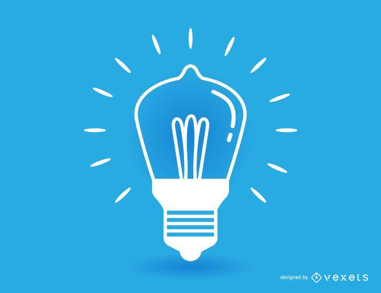 Ilustração de lâmpada de acidente vascular cerebral