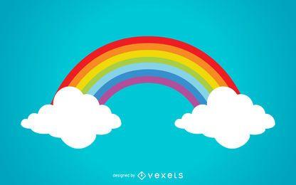 Bunte Regenbogenillustration