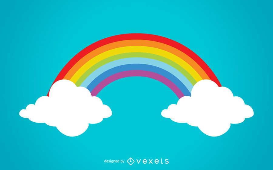 Colorful rainbow illustration
