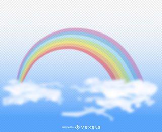 Ilustração de arco-íris transparente