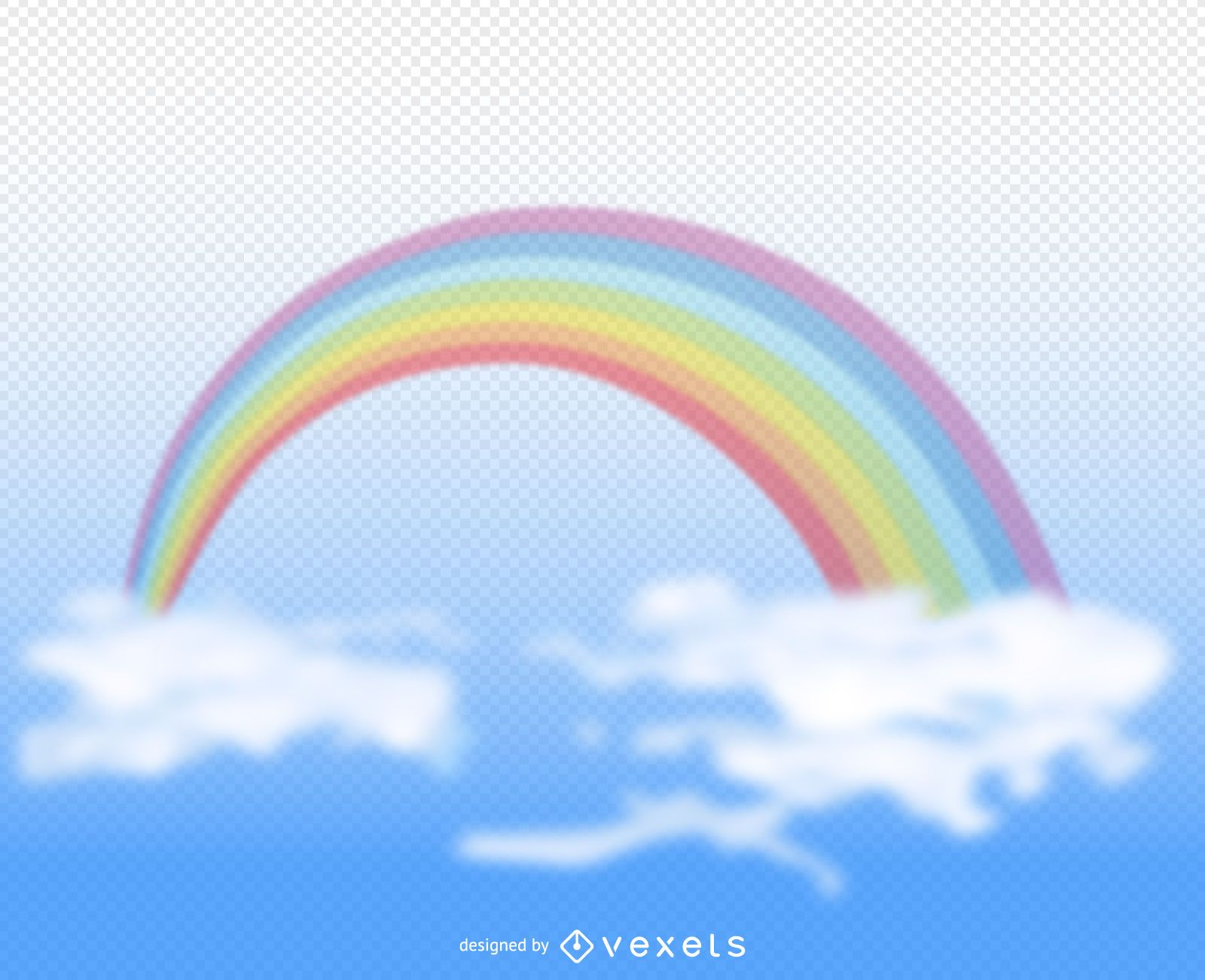 Transparent rainbow illustration