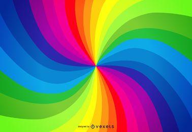 Fundo de redemoinho da paleta de arco-íris
