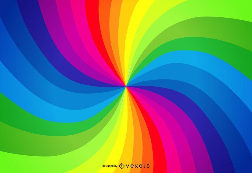 Regenbogenpaletten-Strudelhintergrund