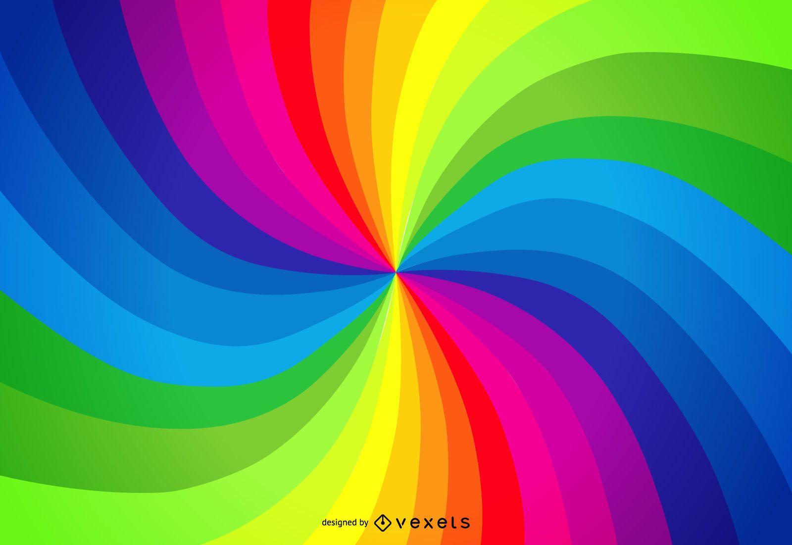 Rainbow palette swirl background