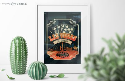 Cartel de póker de Las Vegas