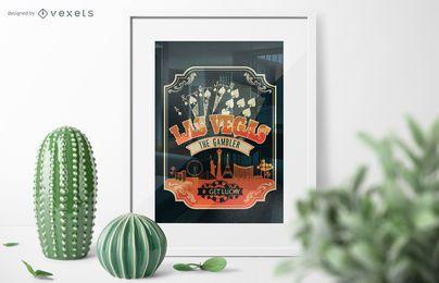 Póster de póquer de Las Vegas