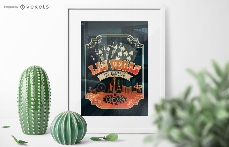 Cartaz de pôquer de Las Vegas