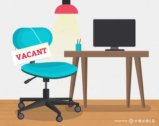 Vacant workplace job hire illustration