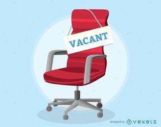Ilustración de silla de oficina vacante