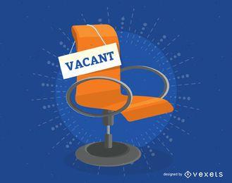 Ilustración de alquiler de trabajo de silla vacante