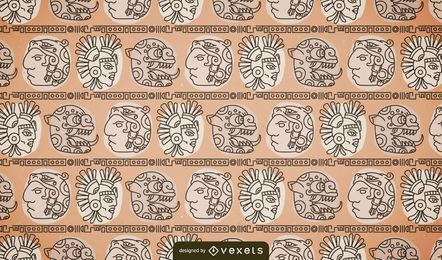 Native mayan pattern