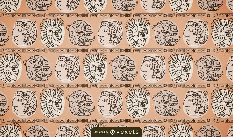 Einheimisches Maya-Muster