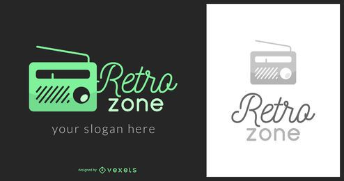 Logotipo de música de zona retrô